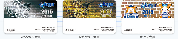 横浜DeNAベイスターズ公式ファンクラブ「B☆SPIRIT友の会」の会員証